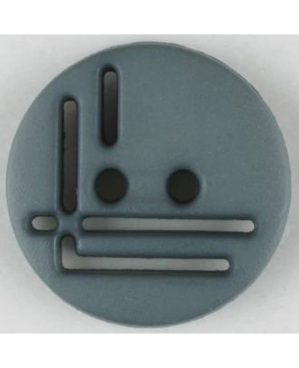 polyamide button, round, 2 holes - Size: 14mm - Color: grey - Art.No. 215700
