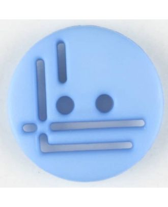 polyamide button, round, 2 holes - Size: 14mm - Color: blue - Art.No. 215709