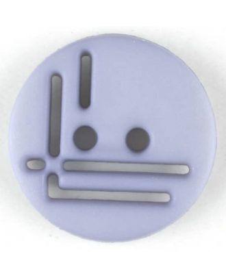polyamide button, round, 2 holes - Size: 14mm - Color: lilac - Art.No. 215711