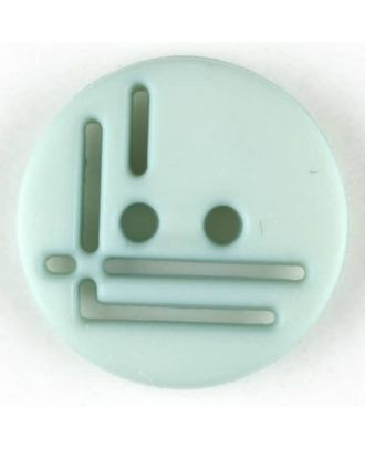polyamide button, round, 2 holes - Size: 14mm - Color: green - Art.No. 215712
