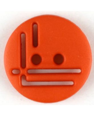 polyamide button, round, 2 holes - Size: 14mm - Color: red - Art.No. 215717