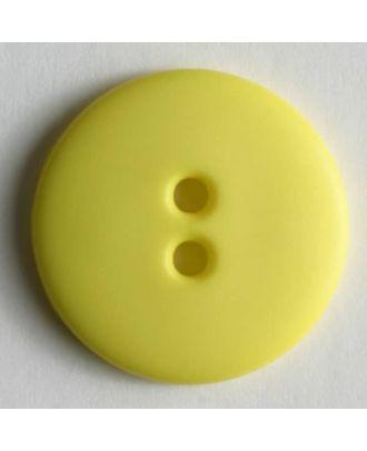 Fashion button - Size: 15mm - Color: yellow - Art.No. 181007