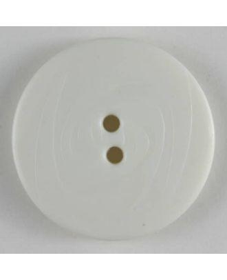 Fashion button - Size: 14mm - Color: white - Art.No. 190826