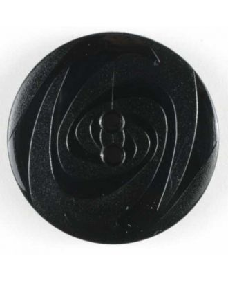Fashion button - Size: 23mm - Color: black - Art.No. 250716