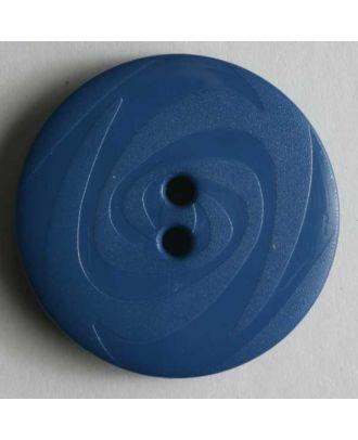 Fashion button - Size: 14mm - Color: blue - Art.No. 190830
