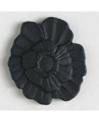 plastic button with shank - Size: 18mm - Color: black - Art.No. 241199