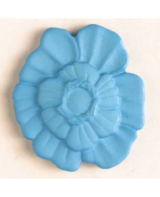 plastic button with shank - Size: 18mm - Color: blue - Art.No. 244602