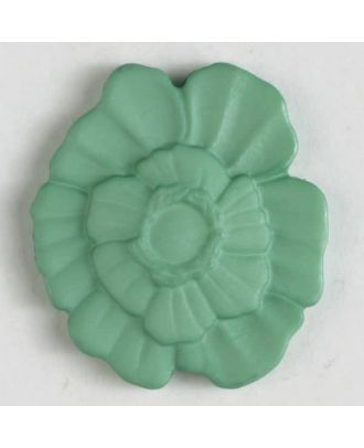 plastic button with shank - Size: 18mm - Color: green - Art.No. 244604