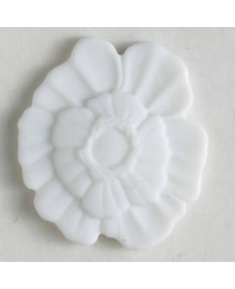 plastic button with shank - Size: 18mm - Color: white - Art.No. 241198