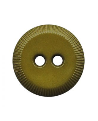 polyamide button round shape with 2 holes - Size: 13mm - Color: khaki - Art.No.: 228811