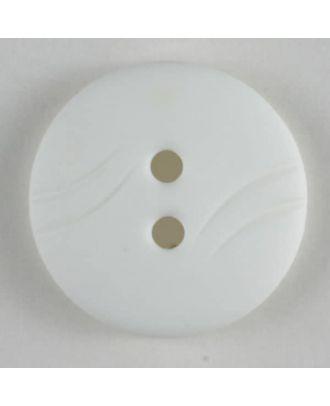 Fashion button - Size: 13mm - Color: white - Art.No. 201236