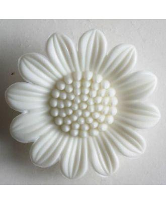 Flower button - Size: 20mm - Color: white - Art.No. 280465