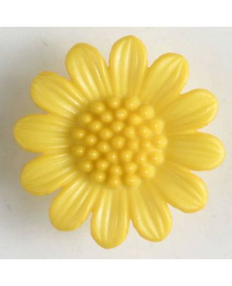 fashion button - Size: 20mm - Color: yellow - Art.-Nr.: 280470