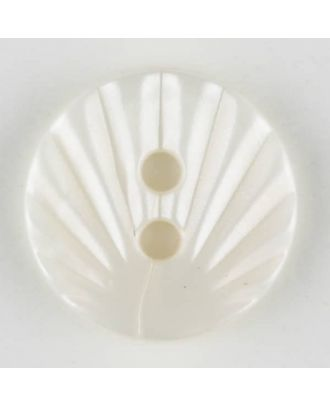 polyamide button, 2 holes - Size: 13mm - Color: white - Art.-Nr.: 211676