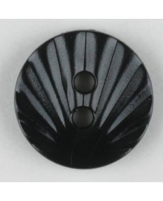 polyamide button, 2 holes - Size: 13mm - Color: black - Art.-Nr.: 211677