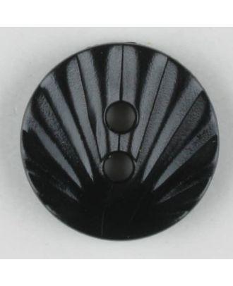 polyamide button, 2 holes - Size: 13mm - Color: black - Art.-Nr.: 211677