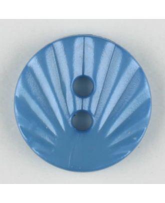 polyamide button, 2 holes - Size: 13mm - Color: blue - Art.-Nr.: 213705