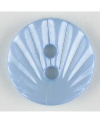 polyamide button, 2 holes - Size: 13mm - Color: blue - Art.-Nr.: 213706