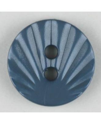 polyamide button, 2 holes - Size: 13mm - Color: blue - Art.-Nr.: 213709