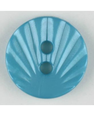 polyamide button, 2 holes - Size: 13mm - Color: blue - Art.-Nr.: 213710