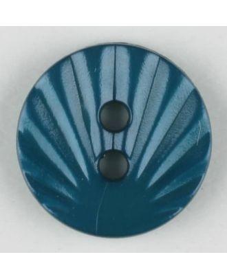 polyamide button, 2 holes - Size: 13mm - Color: blue - Art.-Nr.: 213711