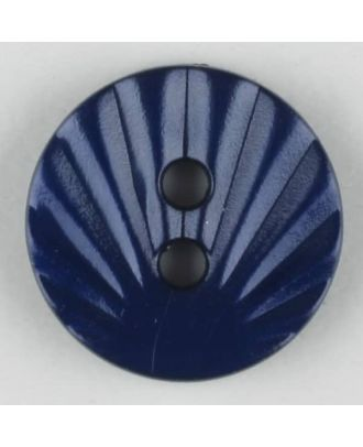 polyamide button, 2 holes - Size: 13mm - Color: navy blue - Art.-Nr.: 213712