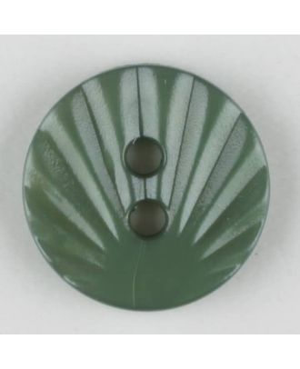 polyamide button, 2 holes - Size: 13mm - Color: green - Art.-Nr.: 213720
