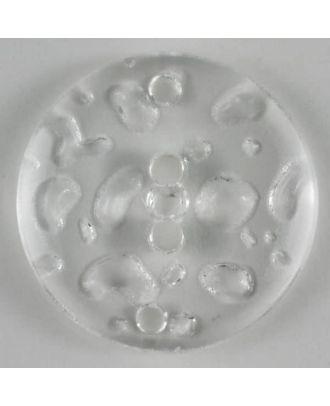 Fashion button - Size: 23mm - Color: transparent - Art.No. 250785