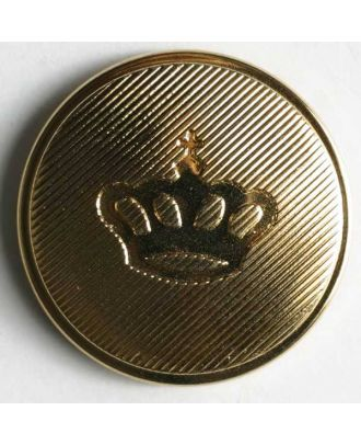 Coat of arms button, metallized plastic - Size: 25mm - Color: gold - Art.No. 300149