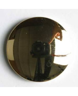 Metallized plastic button - Size: 18mm - Color: gold - Art.No. 240615