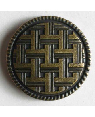 Metallized plastic button - Size: 20mm - Color: antique brass - Art.No. 250776