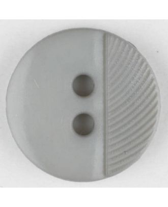 polyester buttons with 4 holes - Size: 13mm - Color: grey - Art.No. 212700