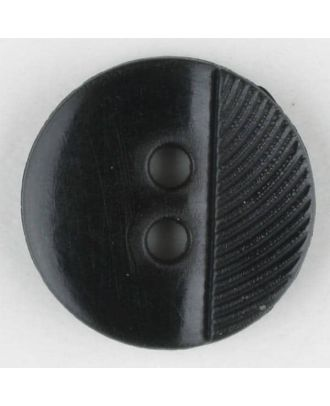 polyester buttons with 4 holes - Size: 13mm - Color: black - Art.No. 211667