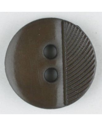 polyester buttons with 4 holes - Size: 13mm - Color: brown - Art.No. 212702