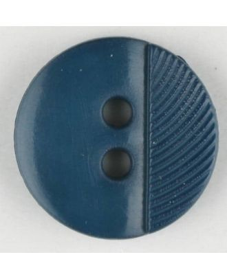 polyester buttons with 4 holes - Size: 13mm - Color: blue - Art.No. 212703