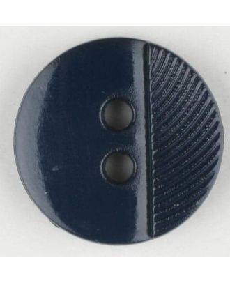 polyester buttons with 4 holes - Size: 13mm - Color: navy blue - Art.No. 211668
