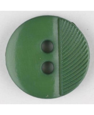 polyester buttons with 4 holes - Size: 13mm - Color: green - Art.No. 212705