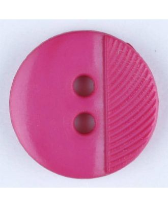 polyester buttons with 4 holes - Size: 13mm - Color: pink - Art.No. 212706
