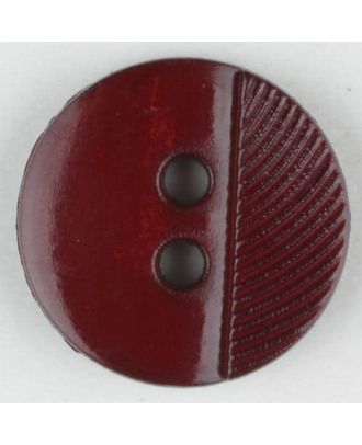polyester buttons with 4 holes - Size: 13mm - Color: wine red - Art.No. 212707