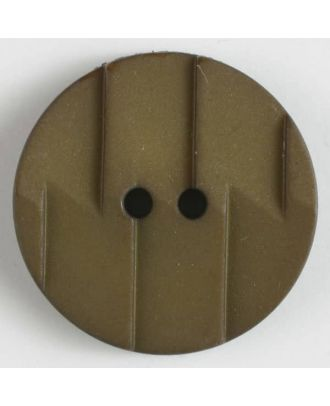 polyamide button 2 holes - Size: 28mm - Color: brown - Art.No. 345603