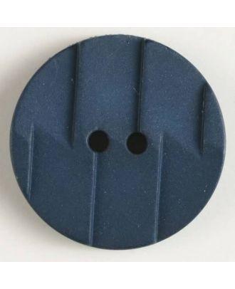 polyamide button 2 holes - Size: 19mm - Color: blue - Art.No. 265604