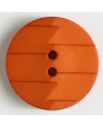 polyamide button 2 holes - Size: 19mm - Color: orange - Art.No. 265629