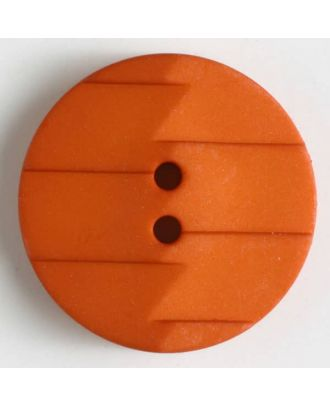 polyamide button 2 holes - Size: 28mm - Color: orange - Art.No. 345629
