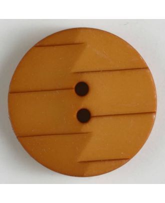 polyamide button 2 holes - Size: 28mm - Color: orange - Art.No. 345630