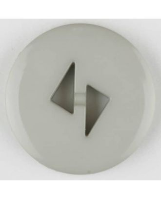 polyamide button, round, 2 holes - Size: 13mm - Color: grey - Art.No. 215723