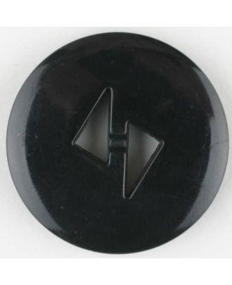 polyamide button, round, 2 holes - Size: 13mm - Color: black - Art.No. 211695