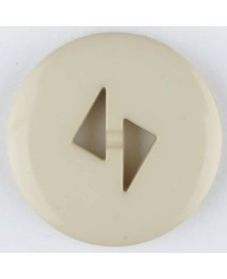 polyamide button, round, 2 holes - Size: 23mm - Color: beige - Art.No. 315701