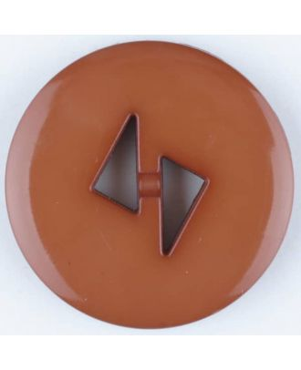 polyamide button, round, 2 holes - Size: 13mm - Color: brown - Art.No. 215725