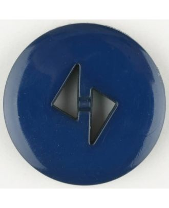 polyamide button, round, 2 holes - Size: 18mm - Color: blue - Art.No. 265705
