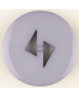 polyamide button, round, 2 holes - Size: 23mm - Color: lilac - Art.No. 315706